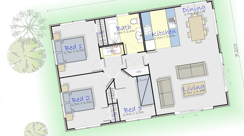 Weka - 3brm Weka : Panelwood Homes
